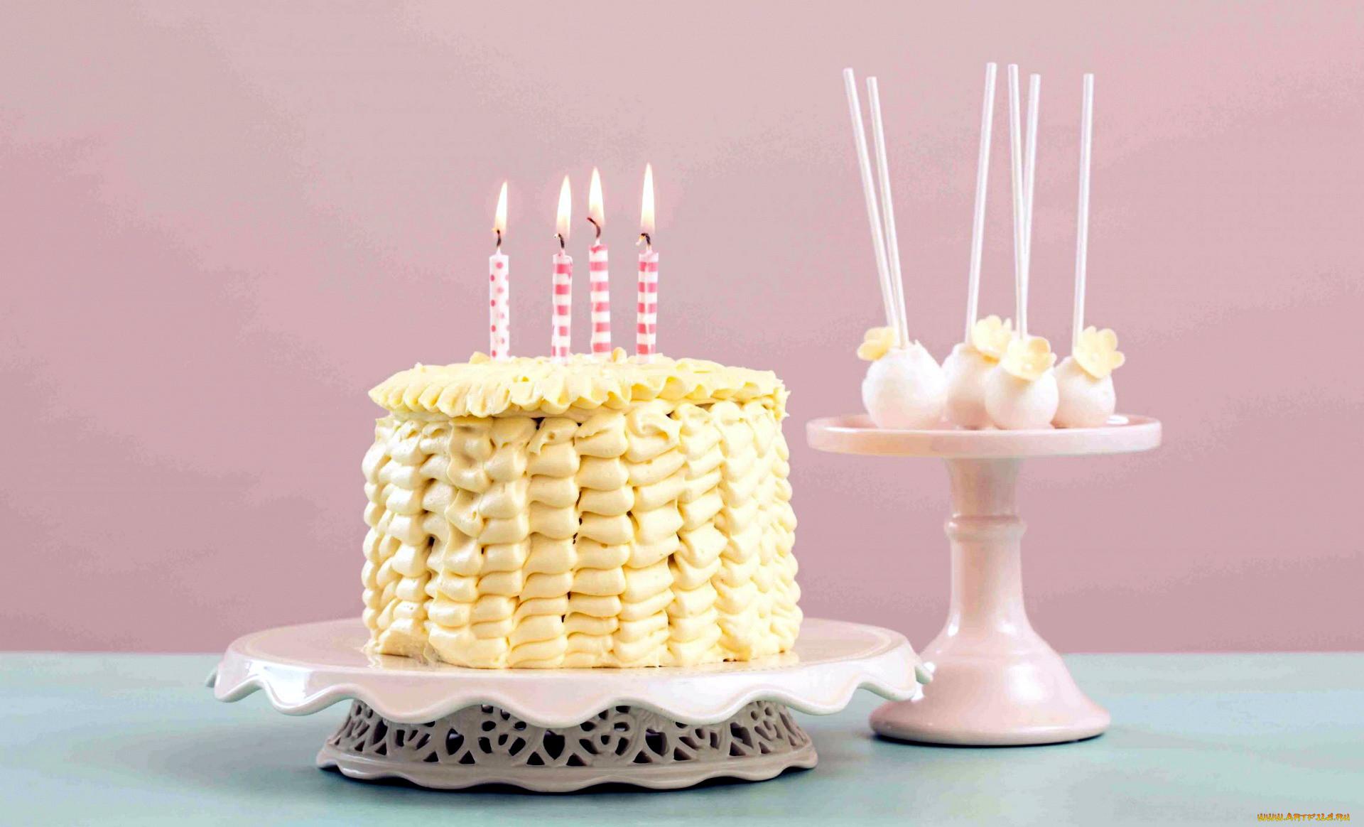 Свечи торты цветы фото